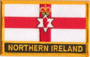 Northern Ireland Embroidered Flag Patch, style 09